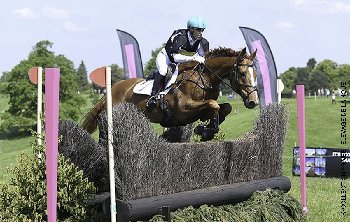 Andrew Hoy  (AUS) riding VASSILY DE LASSOS in OI Section P, during the Fairfax & Favour Rockingham International Horse Trials in the parkland of Rocking Castle near Corby in the county of Northamptonshire in the UK on 20th May 2018